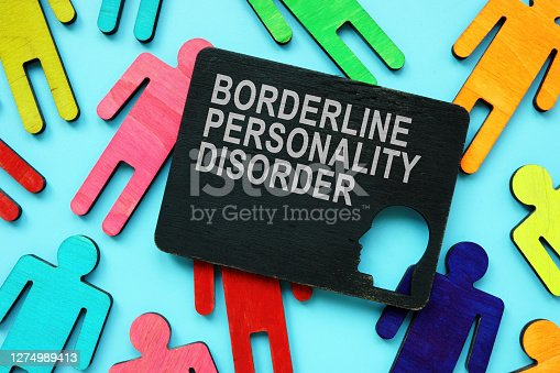 Small Plate with Borderline Personality Disorder BPD words.