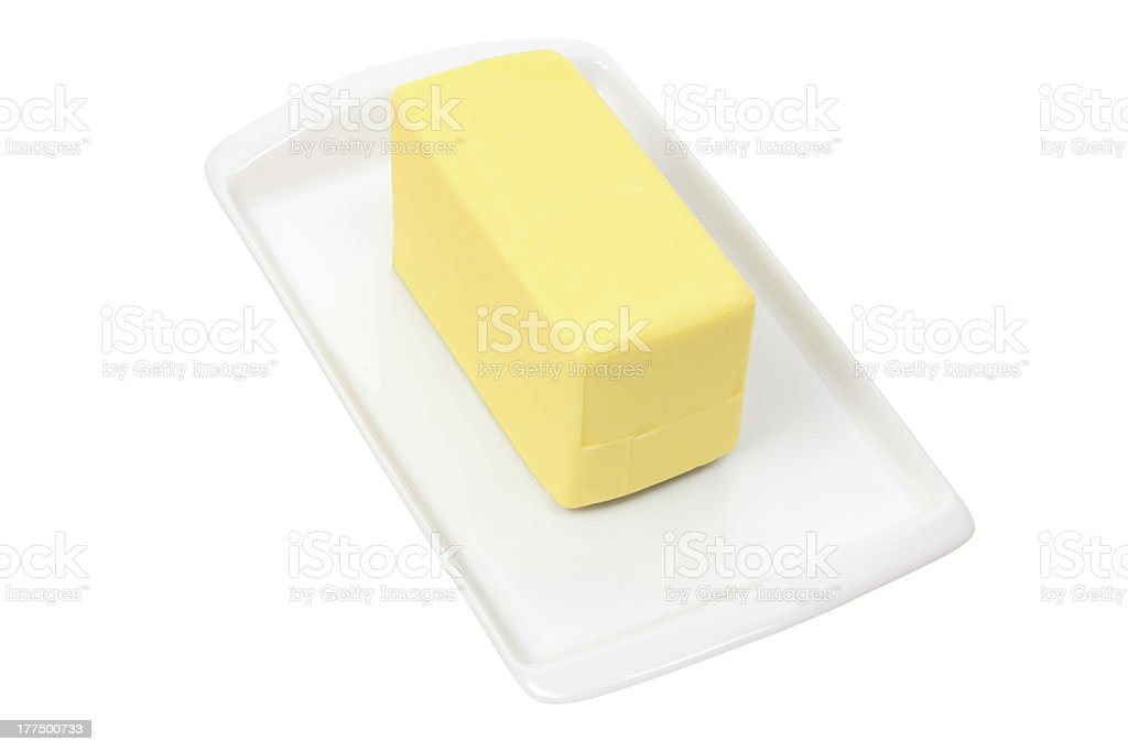 Plate with Butter royalty-free stock photo