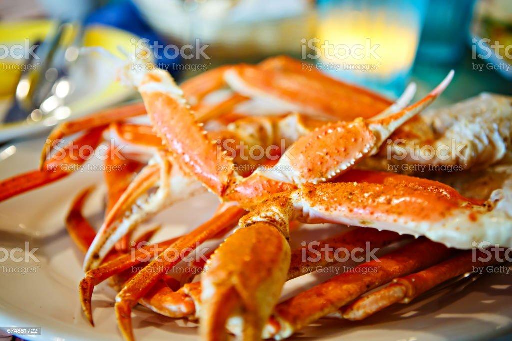 Platte mit Krabbenbeine in einem Restaurant in Key West oder New Orleans – Foto