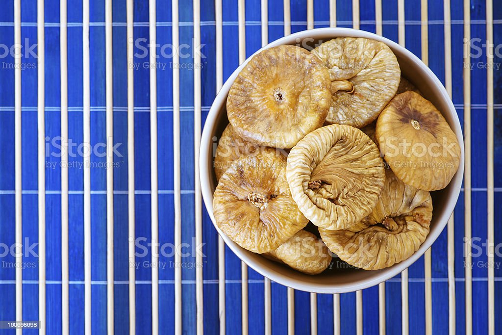 Plate with dried figs royalty-free stock photo