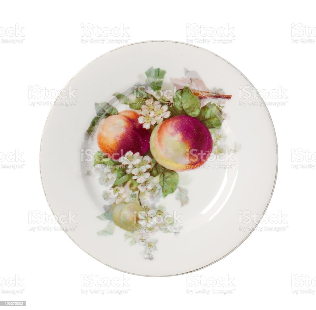 Plate with floral design royalty-free stock photo