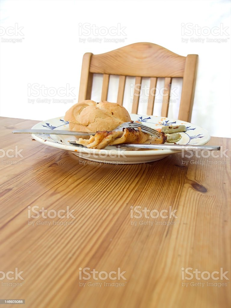Plate with food stock photo