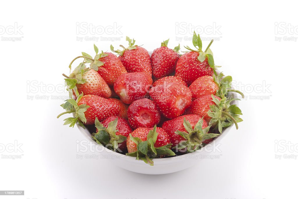 Plate with strawberries royalty-free stock photo
