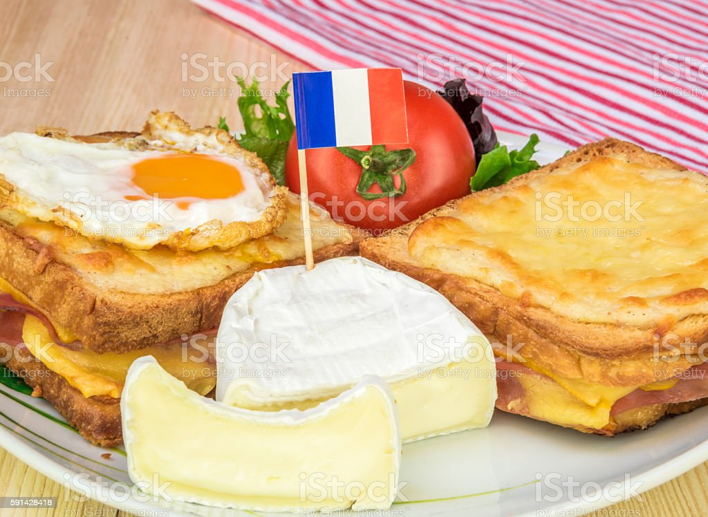 Plate with traditional french food stock photo
