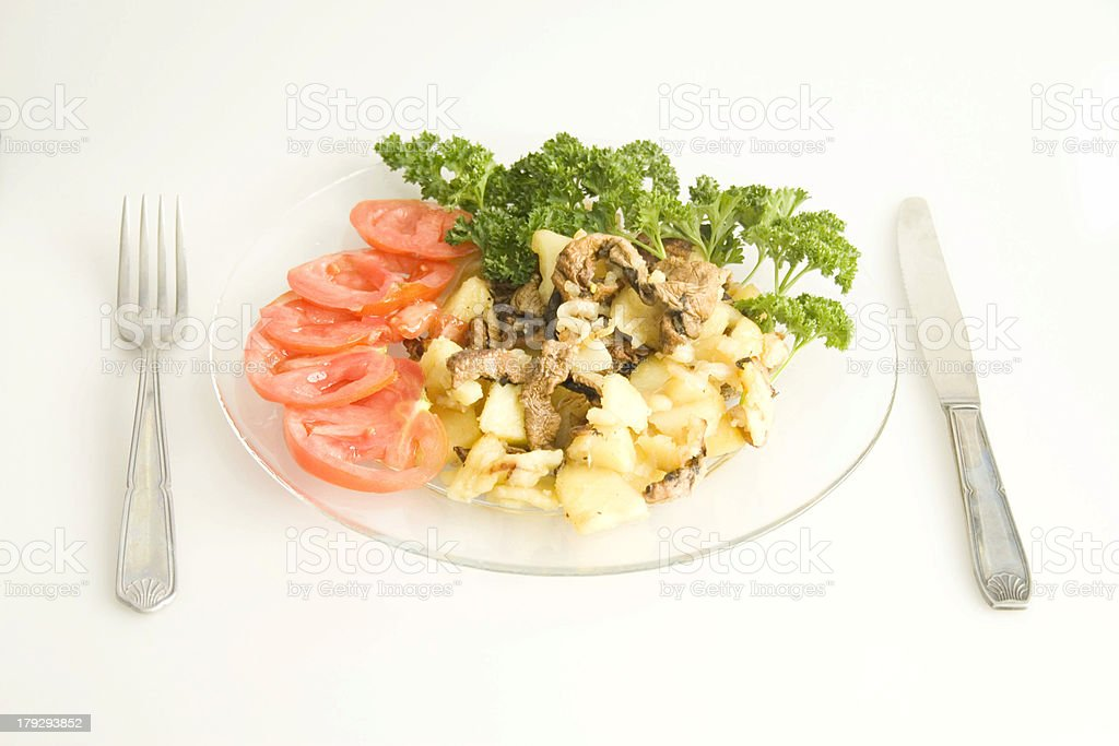 plate  with vegetables royalty-free stock photo