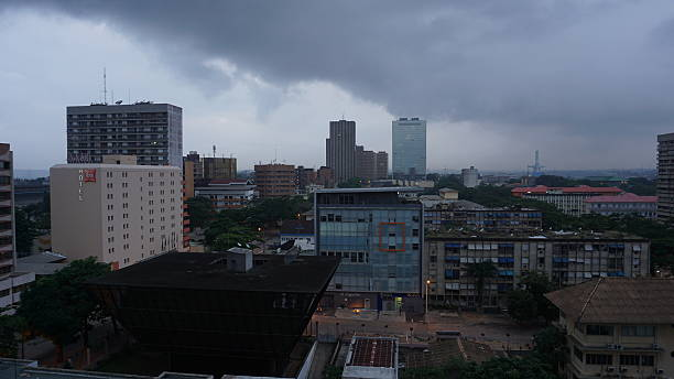 Plateau, Abidjan, Ivory Coast Plateau, the central business district of Abidjan, Ivory Coast, West Africa. côte d'ivoire stock pictures, royalty-free photos & images