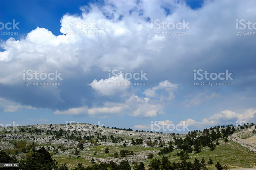 Plateau ai-petri - 免版稅偏遠的圖庫照片