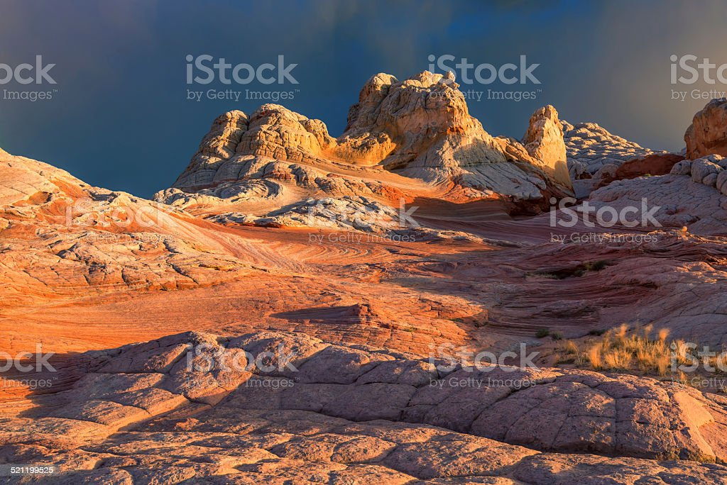 Plateau from white and red sandstone, vermilion cliffs. stock photo