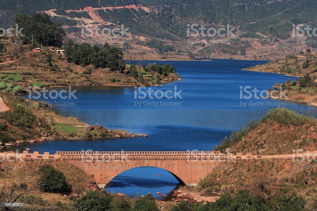 Plateau lake royalty-free stock photo