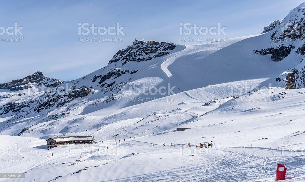 Plateau Rosà stock photo