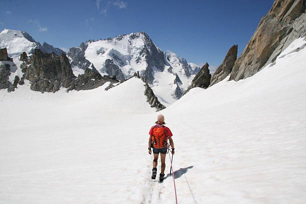 Plateau Trient, der Aiguille du Tour und den Mont Blanc – Foto