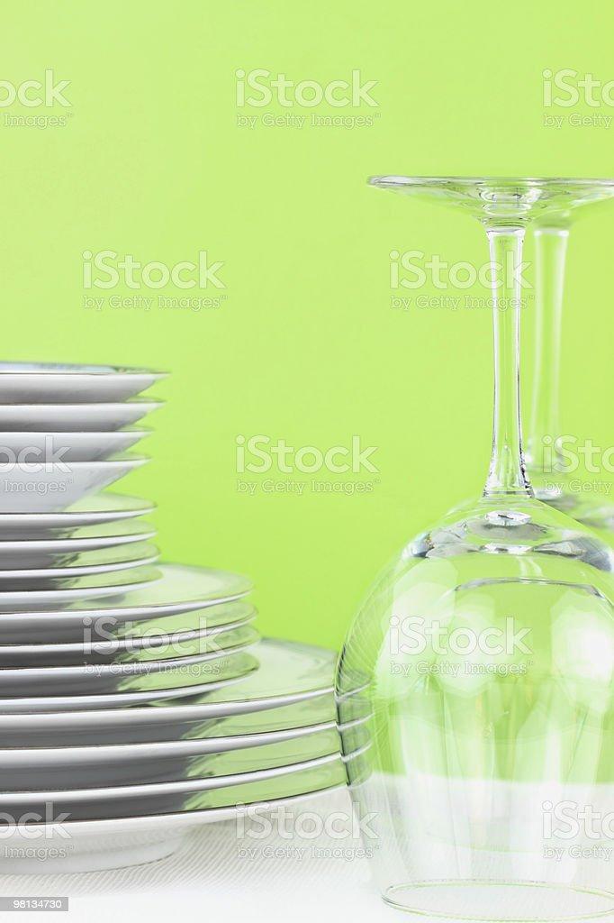 I piatti e gli occhiali foto stock royalty-free