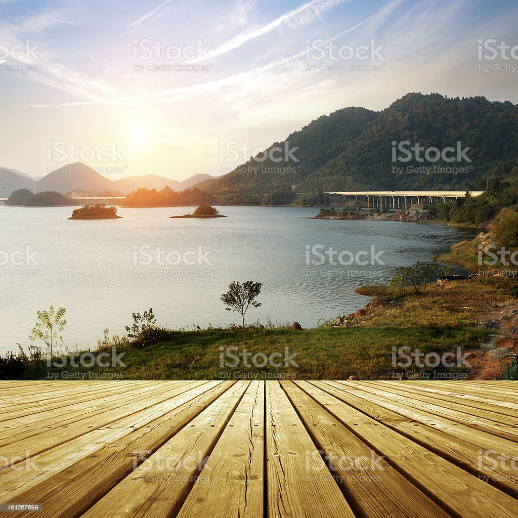 platform beside sea royalty-free stock photo