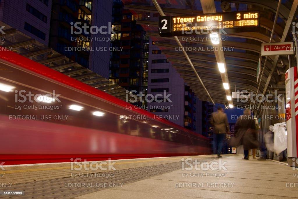DLR platform blur stock photo