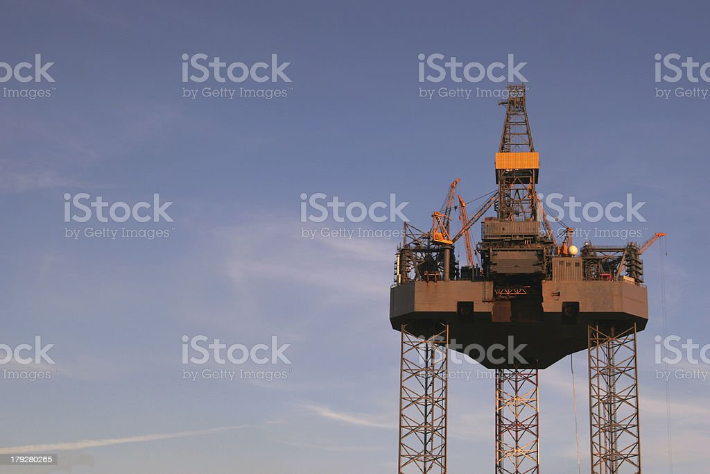 Platform for oil royalty-free stock photo