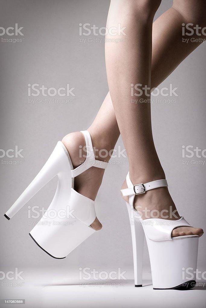Platform Heels stock photo
