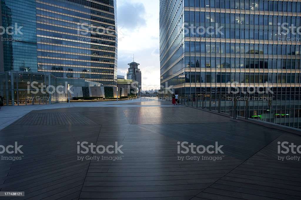 Platform in fron of Office building royalty-free stock photo