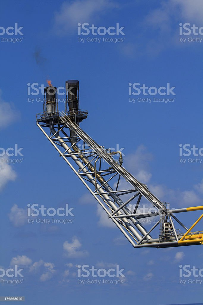 Platform in the sea, Oil and Rig. royalty-free stock photo