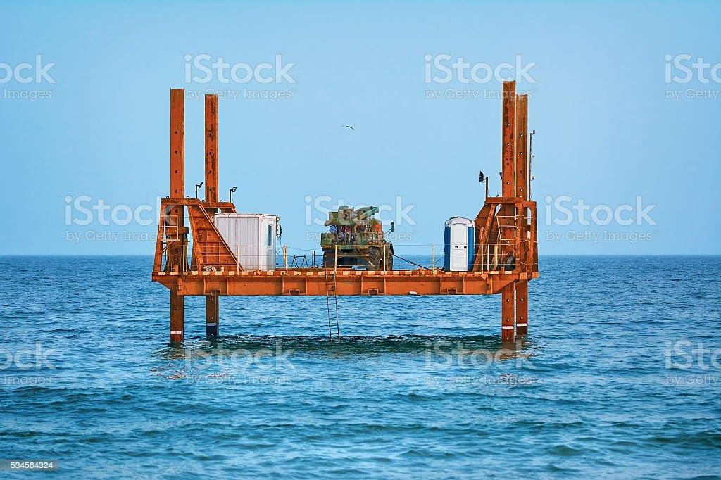 Platform in the Sea stock photo