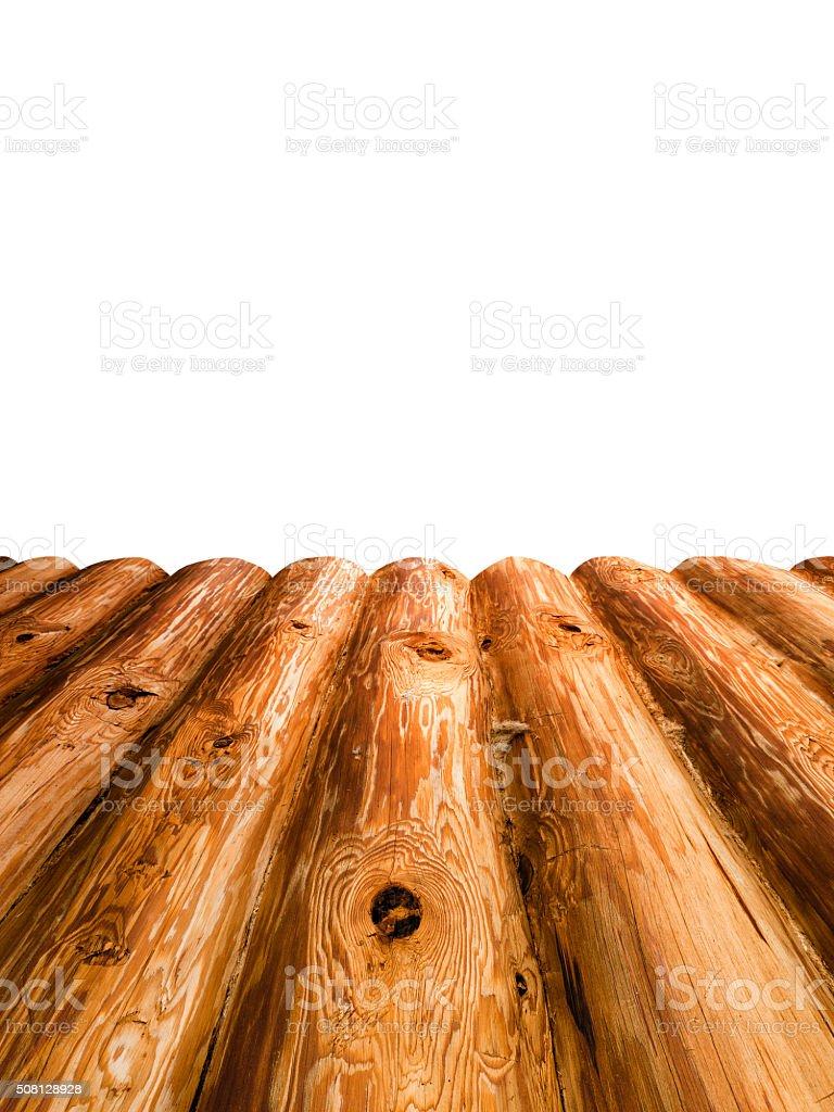 Platform of wooden log stock photo