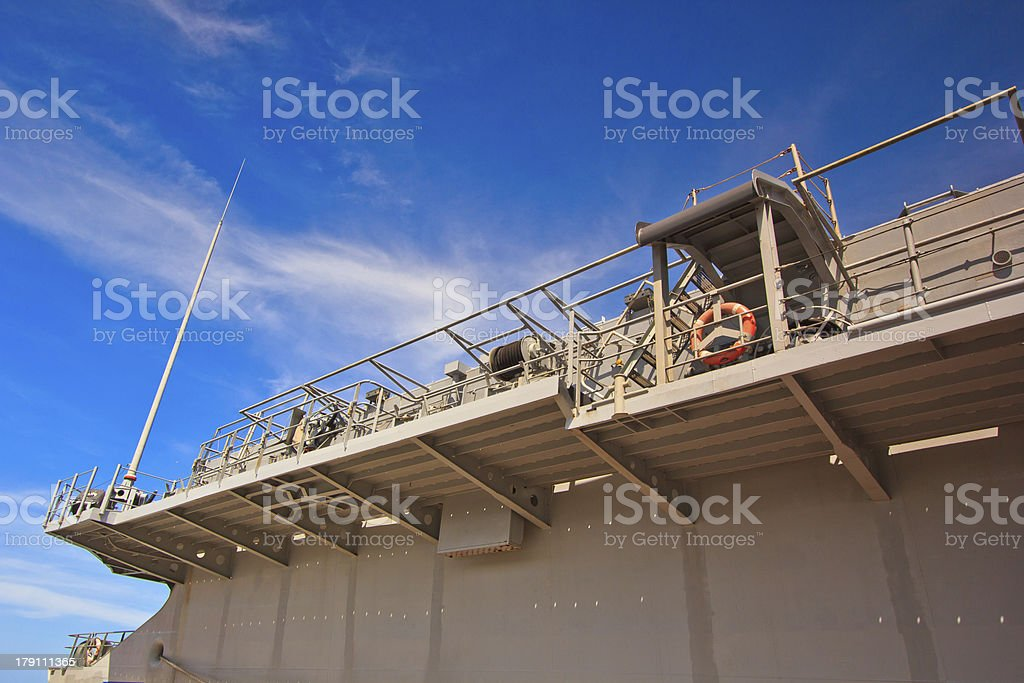 Platform on the battleship royalty-free stock photo