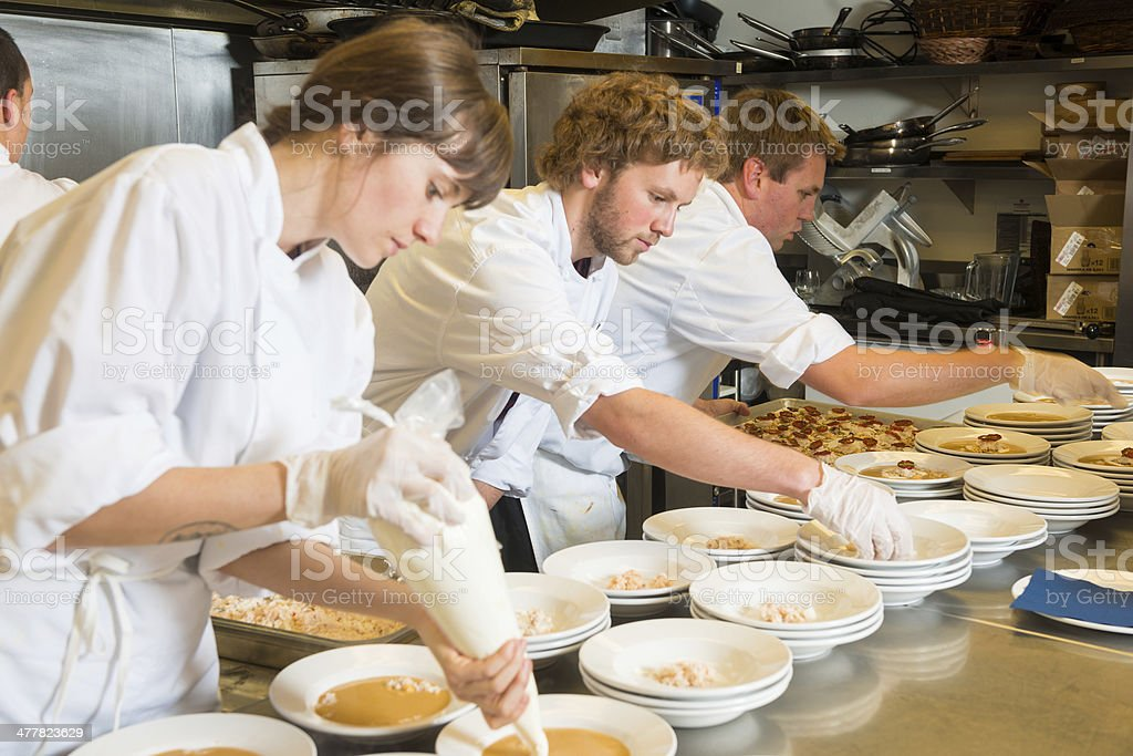 Plating Up stock photo
