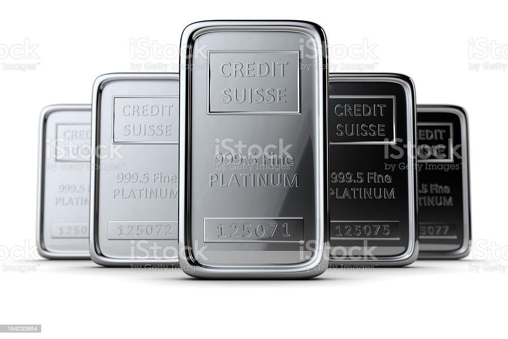 Platinum bars royalty-free stock photo