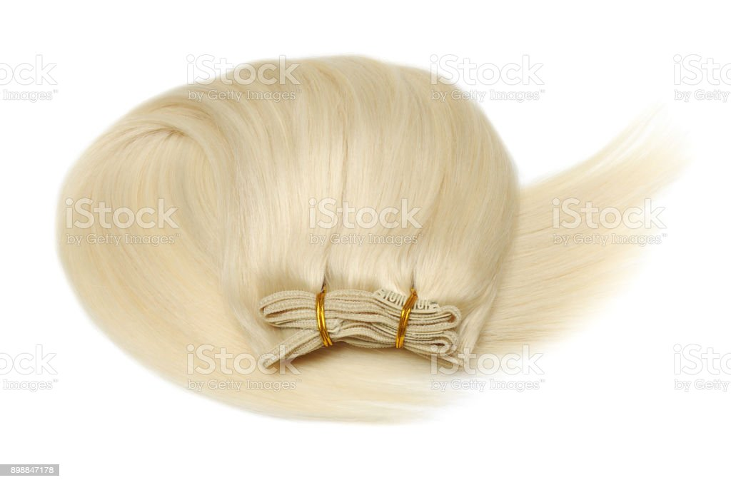 Platinum Blonde Human Hair Extensions Stock Photo More Pictures Of
