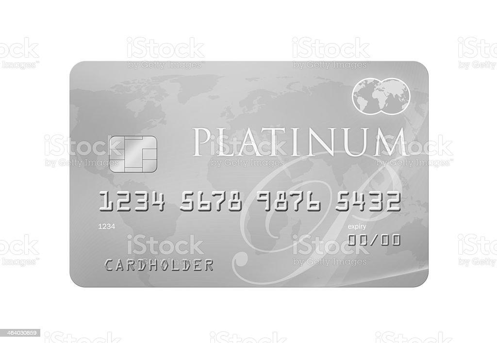 Platinum Credit Card stock photo