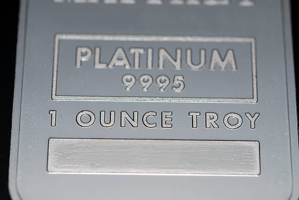 Platinum ingot stock photo