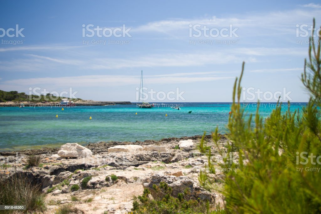 Platja de Bellavista beach, Son Saura stock photo