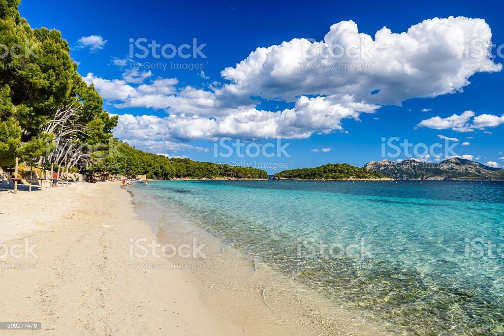 Platja de Formentor - beautiful beach at cap formentor, Mallorca stock photo