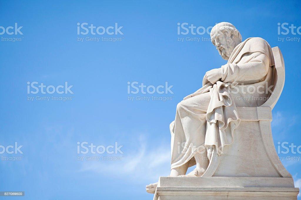 Plato statue stock photo