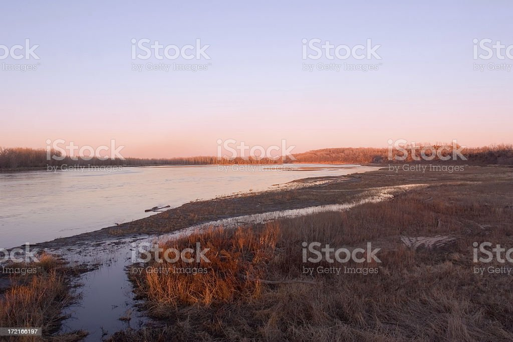 Platte River royalty-free stock photo