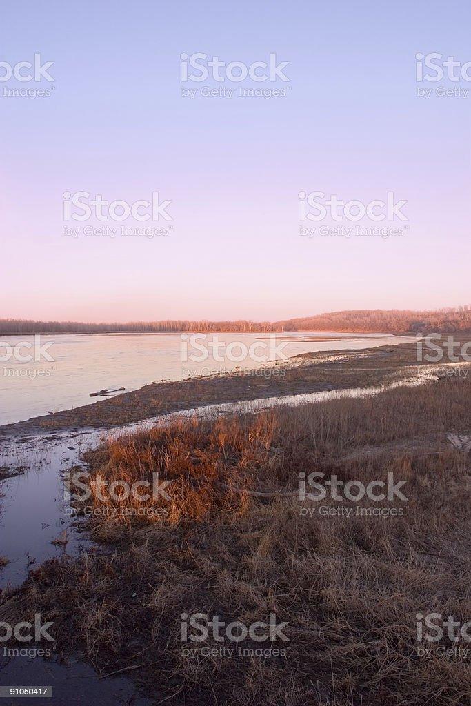 Platte River royalty-free stock photo