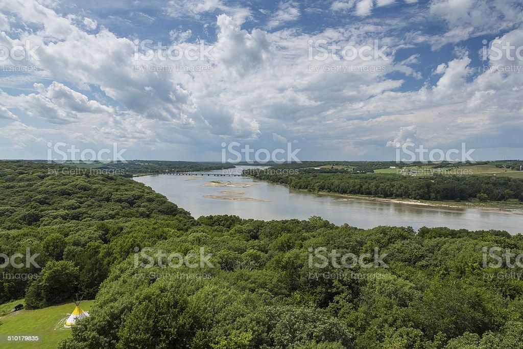 Platte River Scenic stock photo