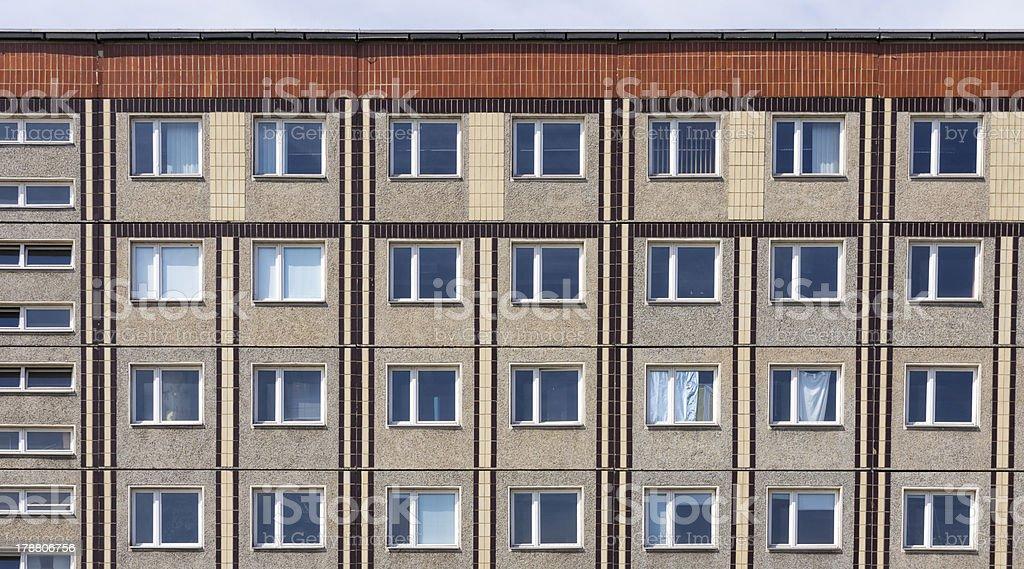 Plattenbau, apartment building in Berlin royalty-free stock photo