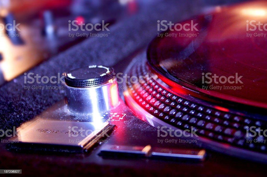 DJ Plattenspieler stock photo