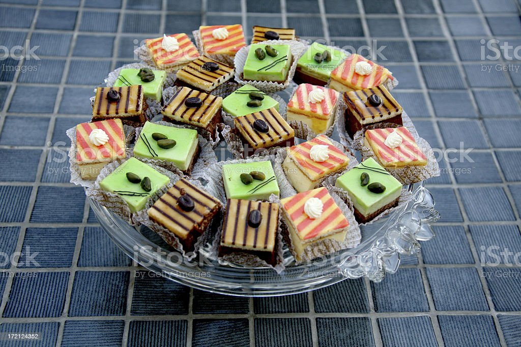 platter of cakes royalty-free stock photo