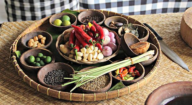 półmisek z indonezji składników żywności - kultura indonezyjska zdjęcia i obrazy z banku zdjęć