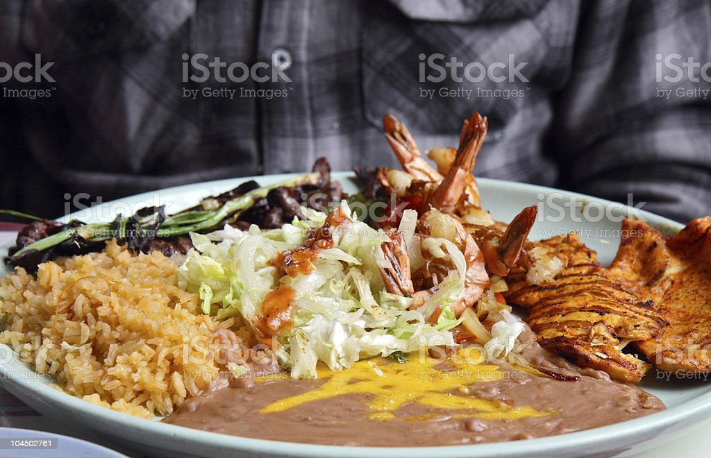 Platter of Mexican Food royalty-free stock photo