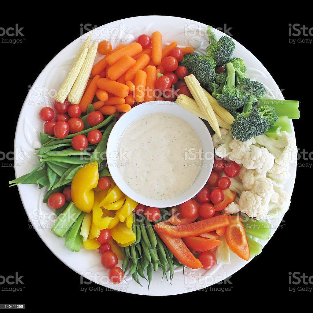 Platter of vegetables stock photo