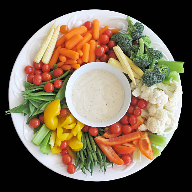 Platter of vegetables stock photo