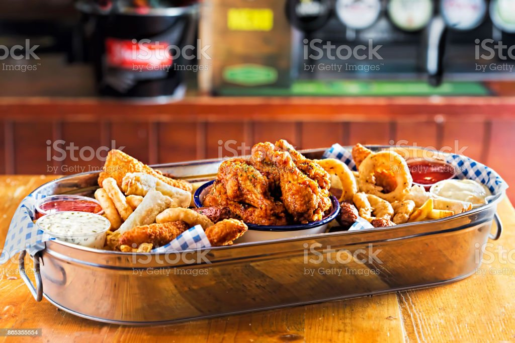 Platter With Chicken Goujons Crispy Chook Wings Cocktail Sausages