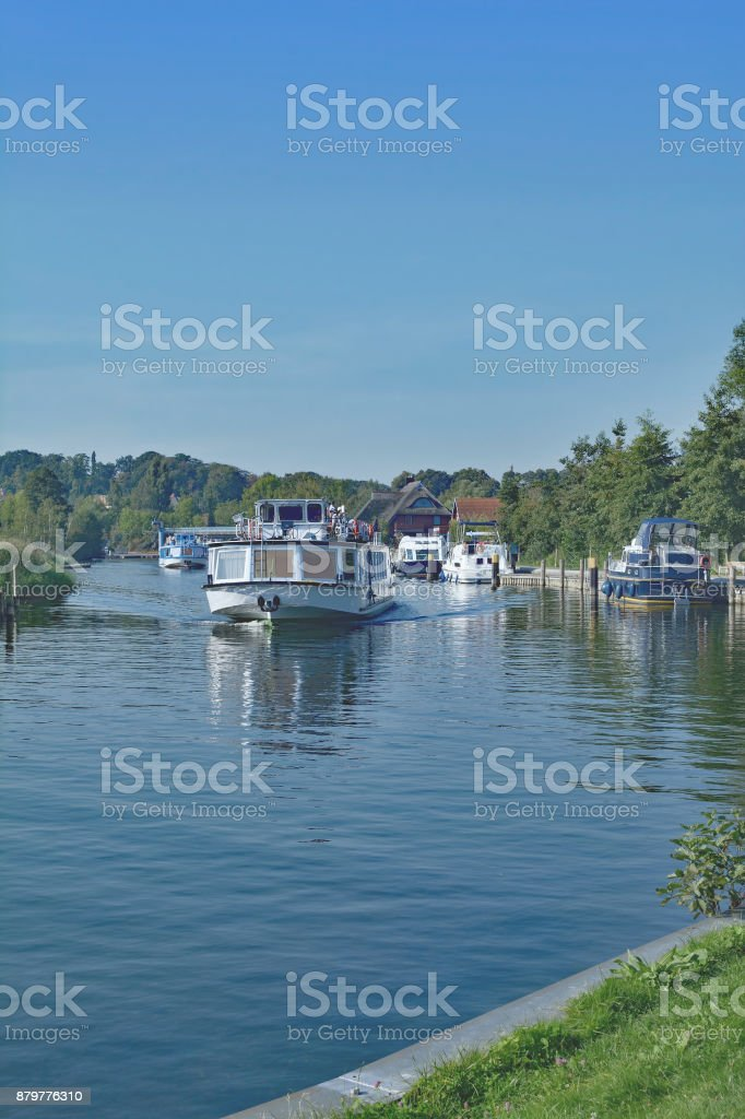 Plau am See,Muritz national Park,Germany stock photo