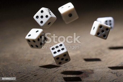 istock Play a game with dice 859865022