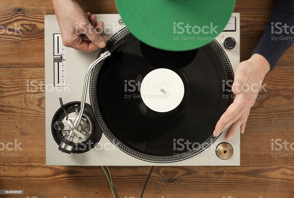 Play a Record stock photo
