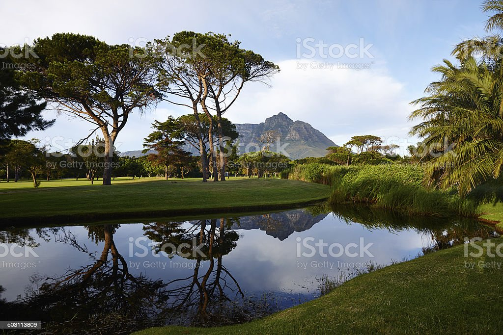 Play a round and enjoy the view stock photo
