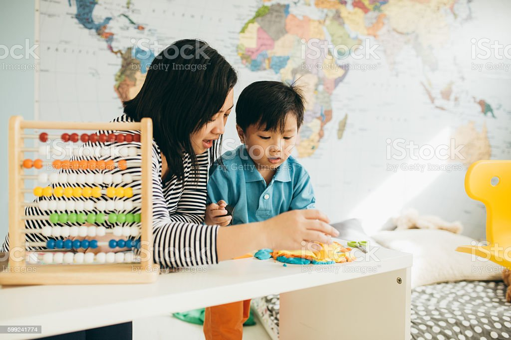 Play as a part of kid development stock photo