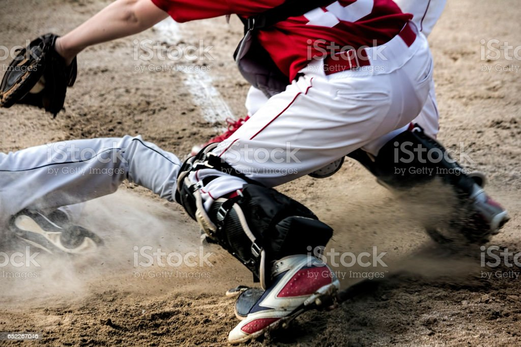 Play at Home Plate stock photo